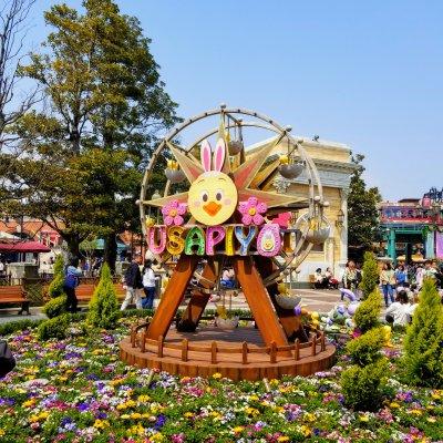 東京ディズニーシー アメリカンウォーターフロント ウォーターフロントパーク 花壇 うさピヨ