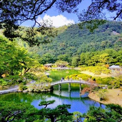香川 栗林公園 飛来峰
