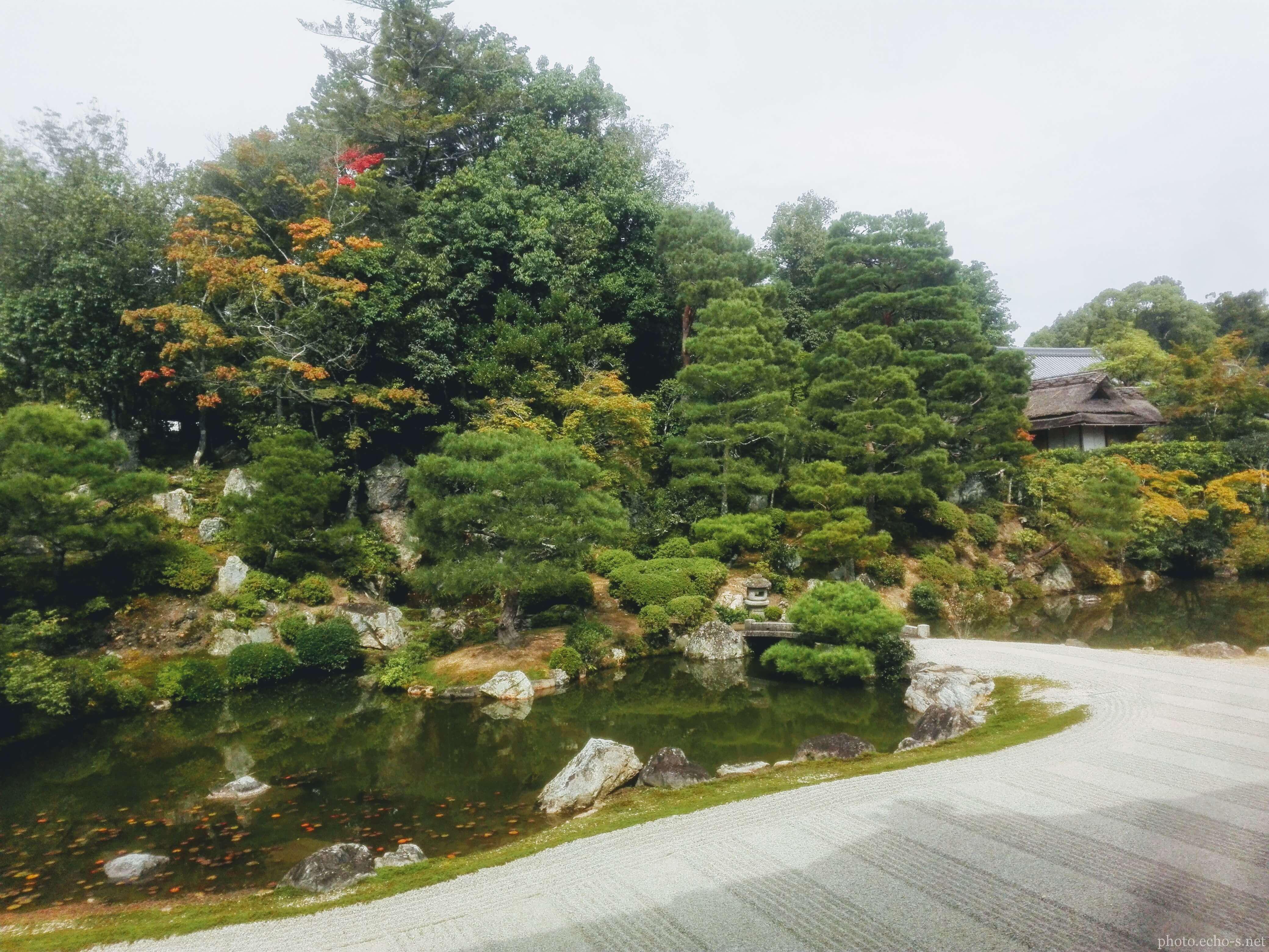 京都 仁和寺 宸殿 北庭