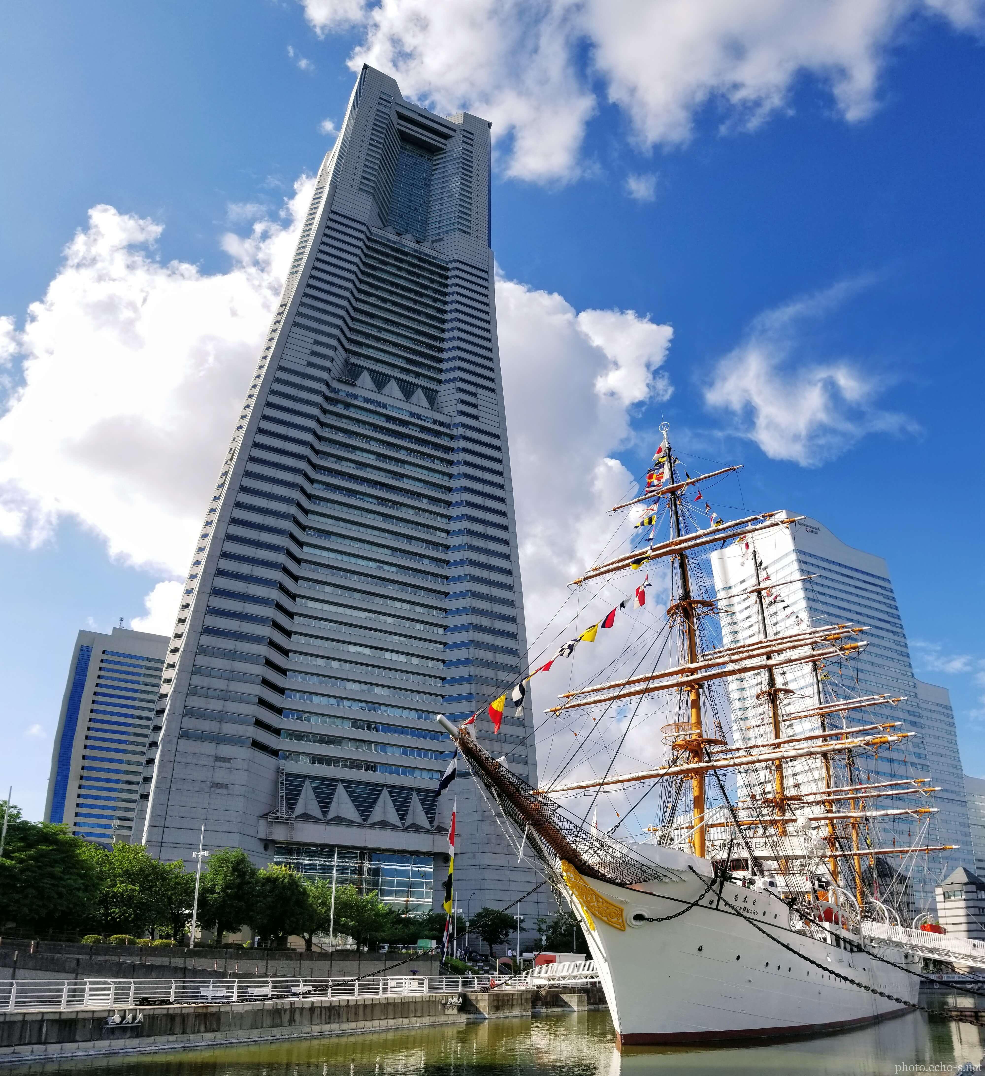 横浜 みなとみらい ランドマークタワー 日本丸