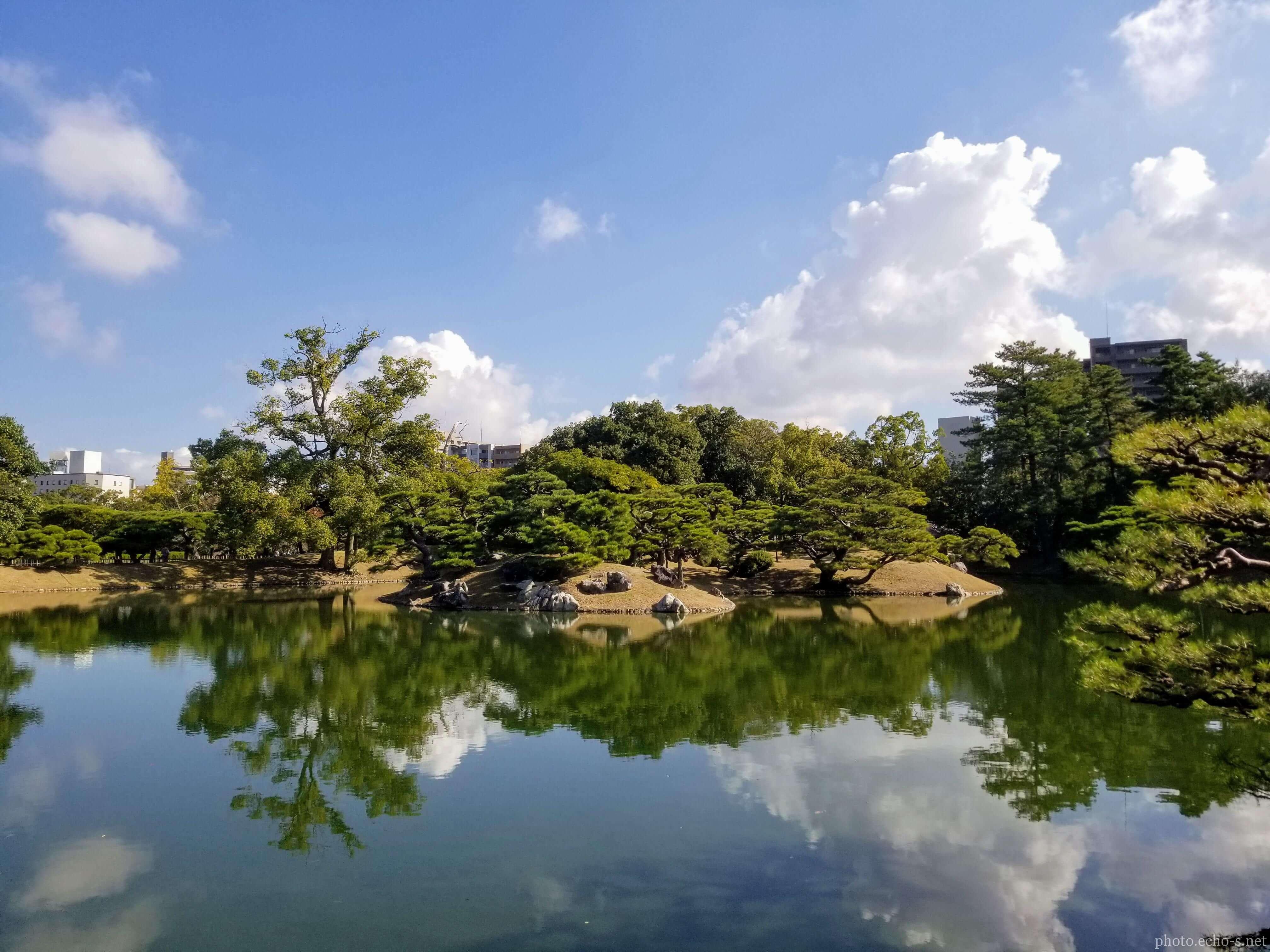 香川 栗林公園 北湖