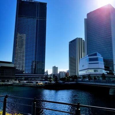 横浜 みなとみらい 汽車道 ランドマークタワー