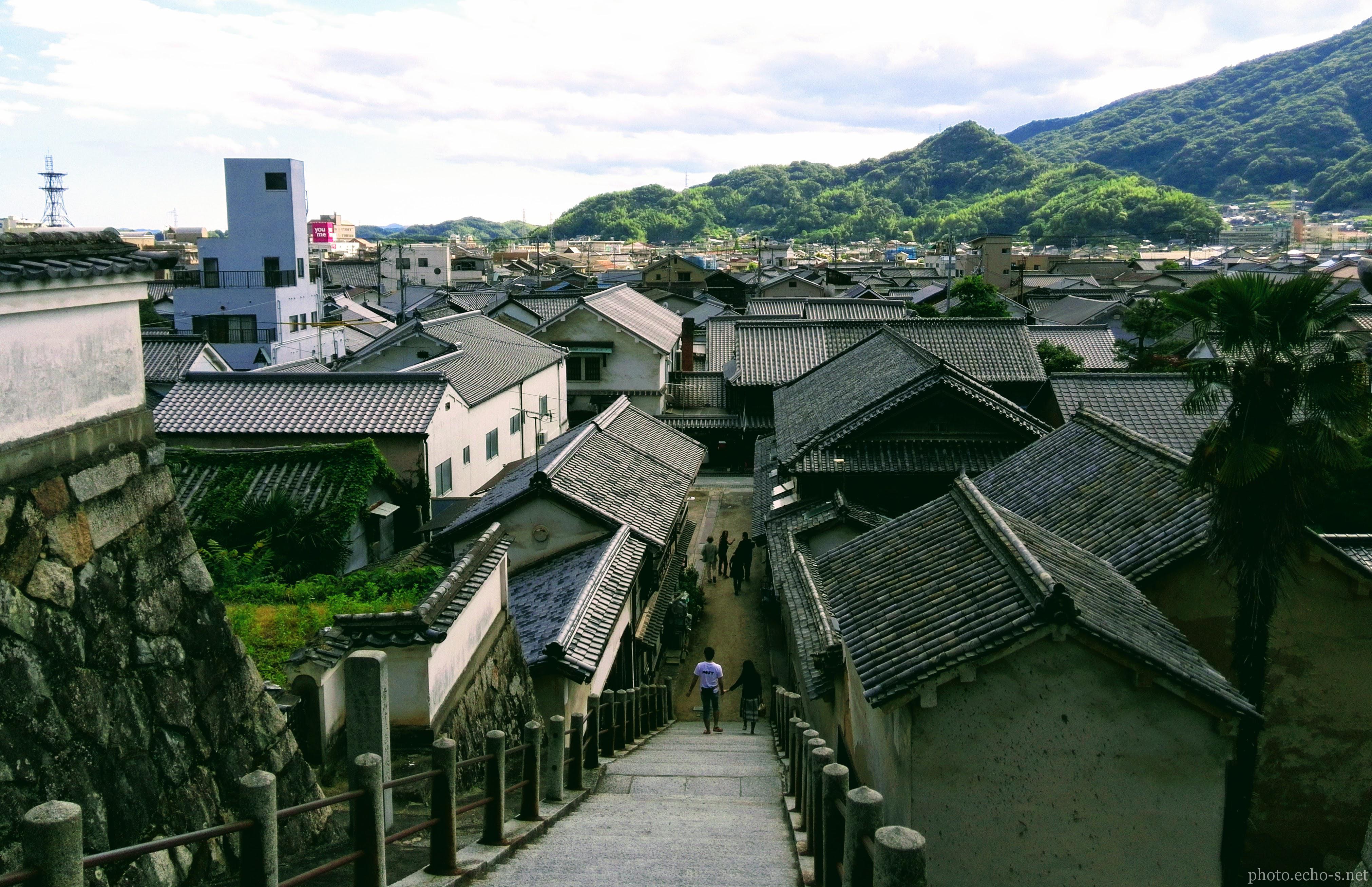 広島 竹原市 西方寺 石段