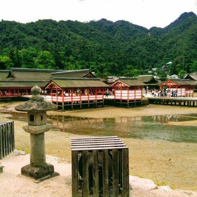 広島 厳島神社 社殿 干潮
