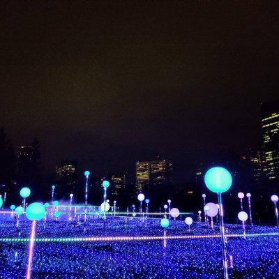 東京ミッドタウン スターライトガーデン 水色
