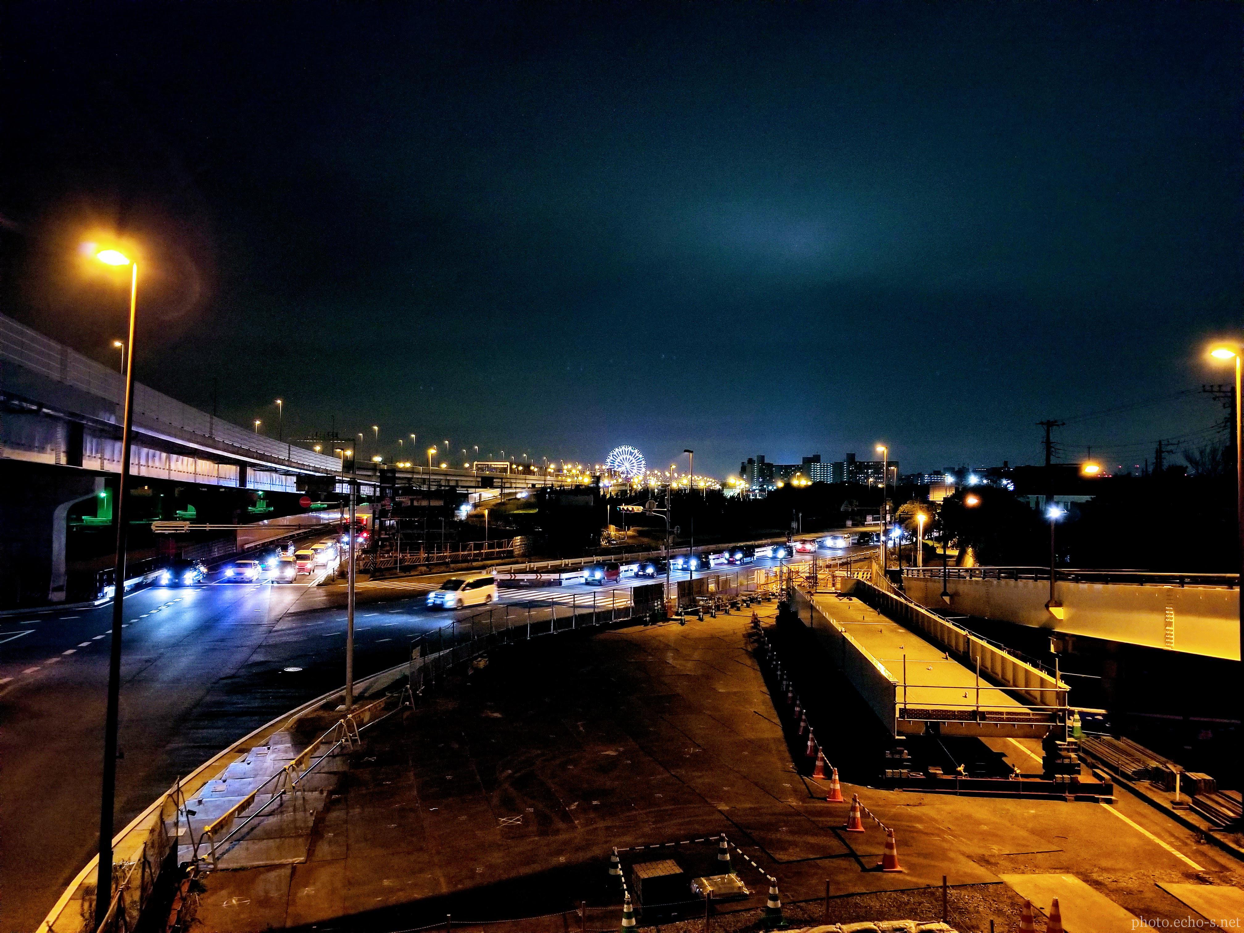 舞浜駅 北口 夜