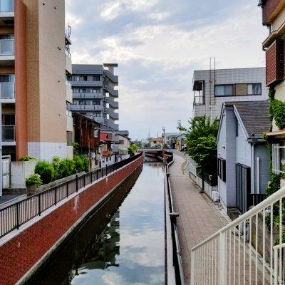 浦安 堀江 境川 境橋からの眺め