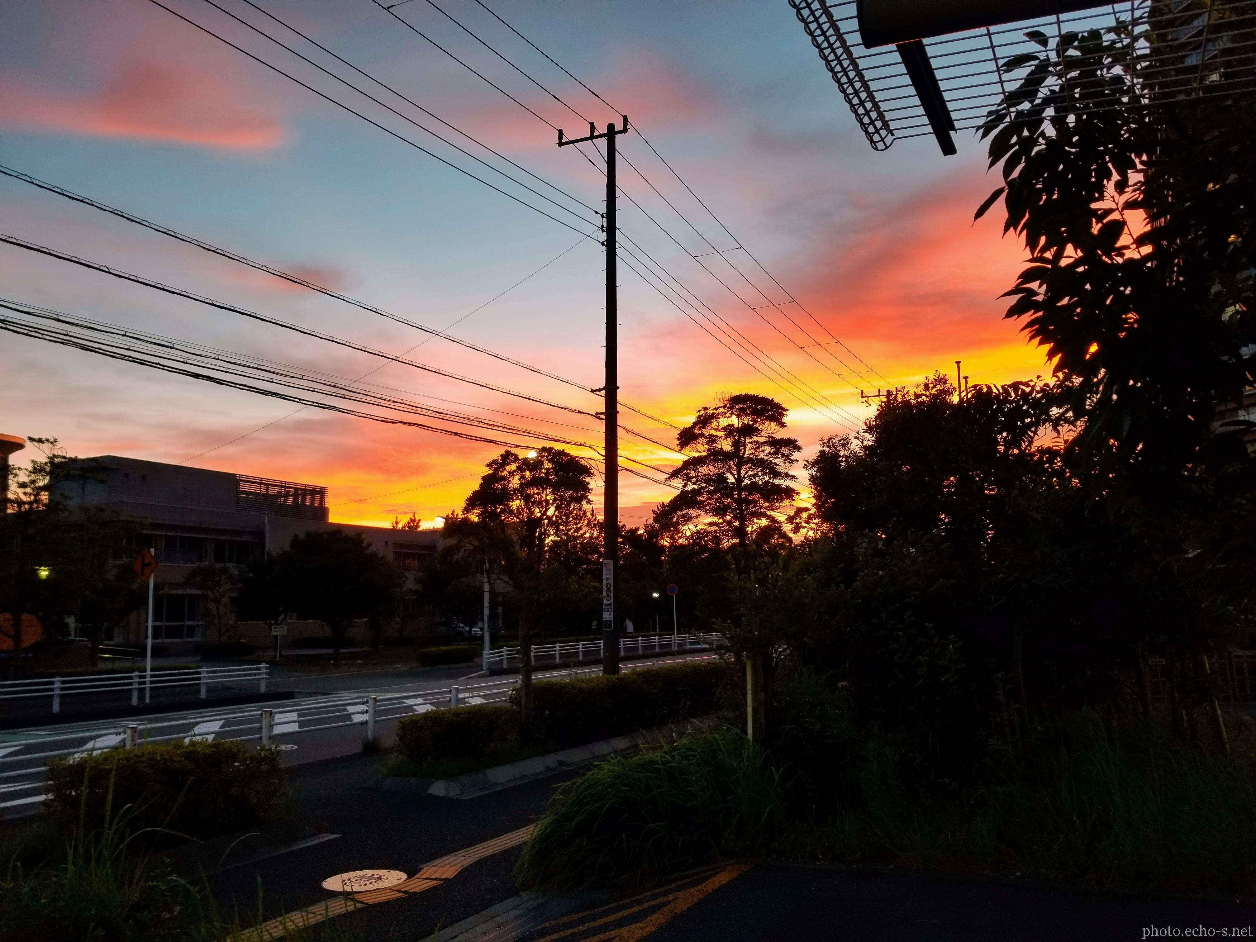 新浦安 高洲 東街区公園 夕空