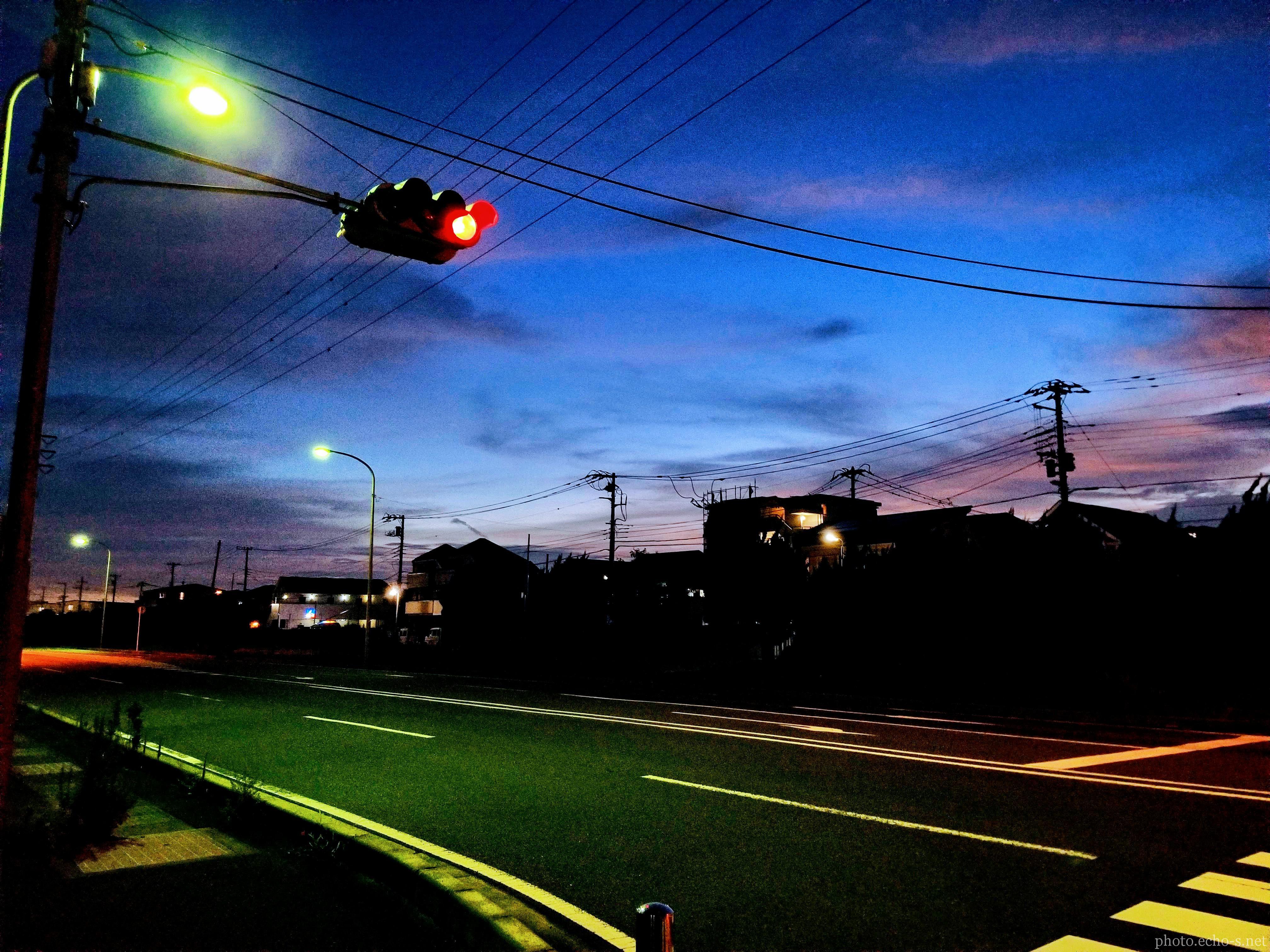 新浦安 高洲 県道276号 夕焼け