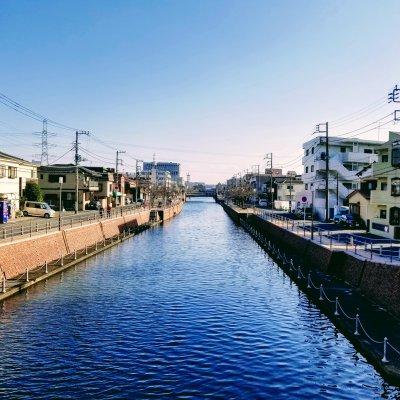 新浦安 堀江 境川 江川橋からの眺め