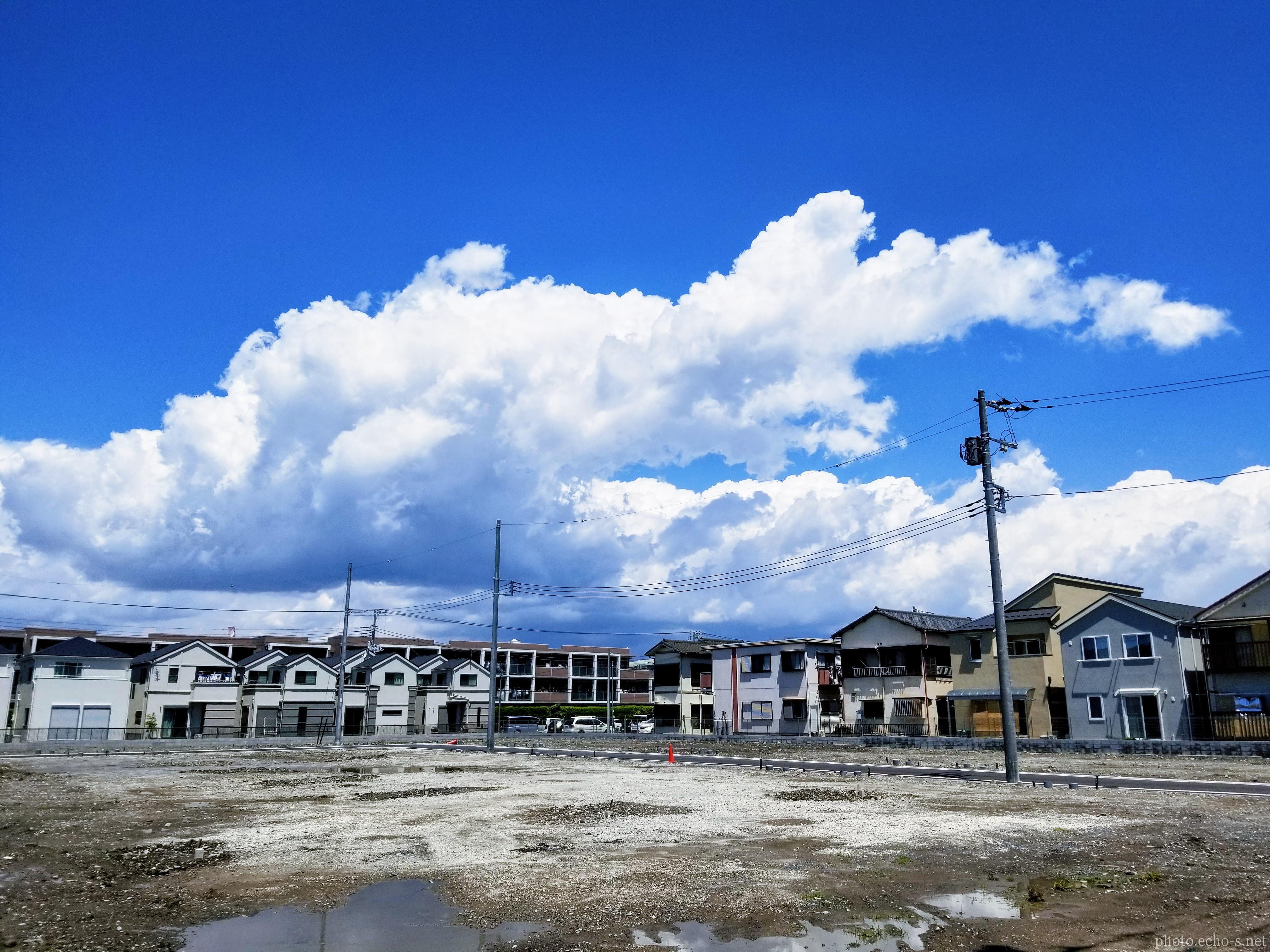 新浦安 東野 テニスコート跡地 入道雲